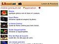 Loisirs et Passions : Site pour Mobiles